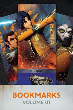 Rebel bookmarks for Kanan, Ezra, and Zeb!