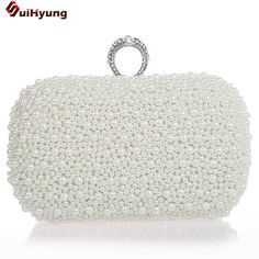 $26.59 (Buy here: https://alitems.com/g/1e8d114494ebda23ff8b16525dc3e8/?i=5&ulp=https%3A%2F%2Fwww.aliexpress.com%2Fitem%2FNew-Fashion-Pearl-Bag-Evening-Bag-Banquet-Bag-Ring-High-Quality-Wild-Style-Black-White-Champagne%2F1367353826.html ) Hot Style Women's Beaded Handbag Bridal Duplex Full Pearl Diamond Ring Clutch Purse. Chain Evening Bag Shoulder Messenger for just $26.59