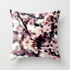 Cherry blossom Throw Pillow by JoanaRosaC - $20.00