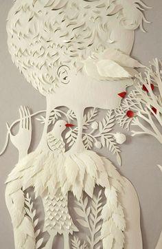 Ilustrações de Elsa Mora – mais conhecida como Elsita – é de cair o queixo. Ela cria ilustrações a partir de pedaços de papel, com personagens e cenários por vezes até texturizados. Lindo demais!