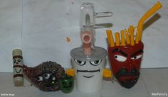 Piece of the Week | Aqua Teen Hunger Force Pipes and Slides | Weedist