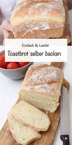 Toastbrot kann man ganz einfach selbst backen, wie ich neulich festgestellt habe. Dazu braucht man nur wenige Zutaten um ein fluffiges und leichtes Toastbrot zubekommen. Toastbrot Rezept, Brot Rezept, Brot backen, #toastbrot #sonntagsistkaffeezeit