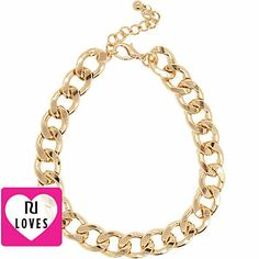 Gold tone chunky curb chain necklace - necklaces - jewelry - women