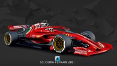 2021 Concept Liveries on Behance Ferrari Berlinetta, Ferrari Scuderia, Ferrari F1, Sport Cars, Race Cars, Living In Car, Red Bull Racing, F1 Racing, Formula 1 Car
