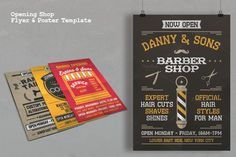 Opening Shop Flyer & Poster Template by Rooms Design Shop on Creative Market