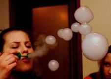 It doesn't take a genius to realize dry ice is awesome, and with Halloween right around the corner, you're bound to be seeing a lot of it. But did you know dry ice bubbles can be used as a practical effect to make whirling, churning alien planets? Smoke Tricks, Vape Tricks, Dry Ice Bubbles, Puff And Pass, Pipes And Bongs, Smoke Weed, Medical Marijuana, Hookahs, Ganja