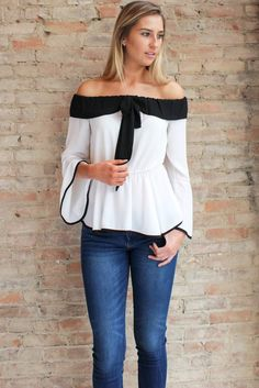 Blair Off the Shoulder Top #affordable-boutique-clothing #affordable-fashion #bell-sleeve