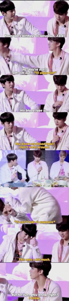 Bap youngjae Daehyung daejae teasing each other funny Kpop