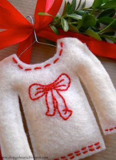 A couple more Christmas Sweater Gift Tags | A Homemade Living