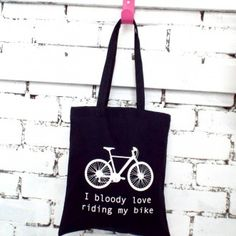 """Kelly Connor """"I Bloody Love Riding My Bike"""" Tote"""