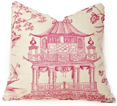 Chinoiserie Chic Hot Pink~Going to make if I can find a similar material