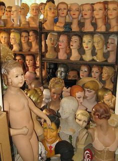 head quarters of mannequins by Tommequins, via Flickr