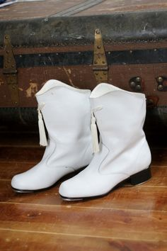 Vintage majorette boots! 38.00  Yup I wore out two pair of these marching with Roethels!