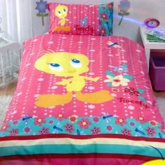 Tweety Bird Bedding Tweety Bird Quilt Cover Flowers