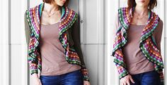 It's BACK..NEW Colors!! Luxury Afghan Crochet Cardigan