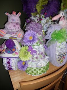 All diaper cakes! Great for showers!