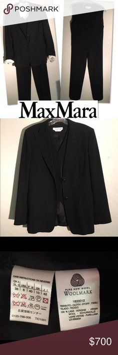 Selling this MAX MARA 2 BUTTON WOOL 3 PC SUIT SZ 8 on Poshmark! My username is: catwalkrags. #shopmycloset #poshmark #fashion #shopping #style #forsale #Max Mara #Other