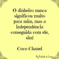 Meu Blog // Realidade de Consumo // RC <3 // Post: Dicas para quem quer arrumar emprego! // Frase // Coco Chanel // BLOG_RC_03 // ♥