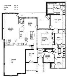 Master bathroom layout is nice, like the 3 car garage and media room too