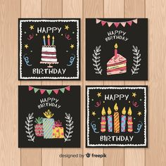Happy Birthday Hand Lettering, Happy Birthday Art, Happy Birthday Wishes Quotes, Birthday Cards For Friends, Birthday Gifts For Best Friend, Travel Journal Scrapbook, Mini Drawings, Homemade Birthday Cards, Chalkboard Art