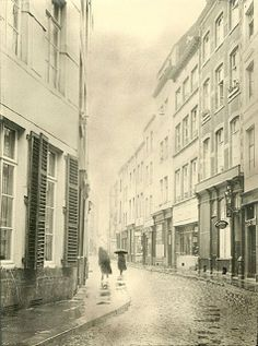 Rainy Day in Brussels, 1930