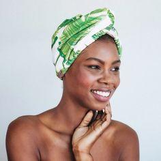 Palm Print Microfiber Hair Towel - KITSCH Charlotte Tilbury, Urban Decay Brow, Twist Hairstyles, Cool Hairstyles, Beste Leggings, Hair Towel Wrap, Hair Health And Beauty, Hair Turban, Shower Routine