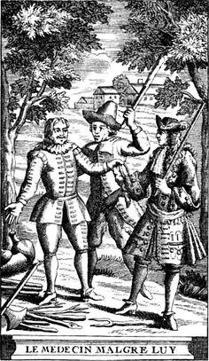 6 août 1666 : première représentation du Médecin malgré lui. Gravure de l'édition de 1719