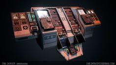 ArtStation - Scifi Cockpit, Emil Skriver