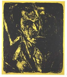 Self-portrait with Cigarette by @artistkirchner #expressionism