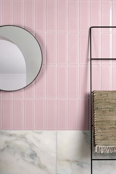 Our collection of bevelled gloss Camden Ceramic tiles teams the ever enduring rectangular shape. Colours include Aqua, Candy, Danube, Green, Light Tan, Liquorice and White. Pink Tiles, Camden, Artisan, Delicate, Colours, Shapes, Ceramics, Mirror, Kitchens
