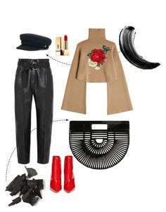 """Untitled #54"" by iulianamm on Polyvore featuring Cult Gaia, Petar Petrov, William Fan, Gianvito Rossi, Yves Saint Laurent and Maybelline"
