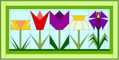 flower quilt blocks - Google Search