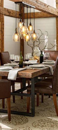 Cool 88 Cozy Farmhouse Fall Decor Ideas for Dining Room. More at http://88homedecor.com/2017/09/06/88-cozy-farmhouse-fall-decor-ideas-dining-room/