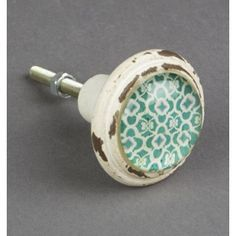 Bouton de meuble Marrakech vert - Boutons-Mandarine.com