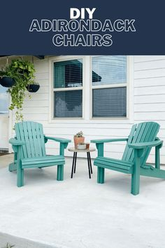 How to build beautiful, simple DIY Adirondack chairs from a template. They're perfect for your backyard! #diyfurniture #adirondackchairs #woodworking Diy Furniture Renovation, Furniture Makeover, Furniture Design, Furniture Ideas, Beginner Woodworking Projects, Diy Woodworking, Upcycled Furniture, Outdoor Furniture Sets, Outdoor Decor