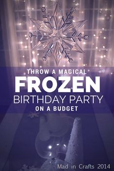 Frozen Birthday Party Decorations from the Dollar Store (1)