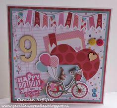 Flower Delight verjaardagskaart. http://geralienscreaties.blogspot.nl/2015/04/verjaardagskaart-flower-delight.html
