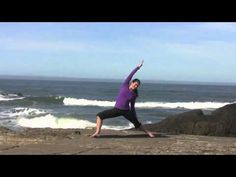Yoga Video ~Well Rounded Practice with sun salutes, standing poses, balances, forward bending and back bending. (54 minute class)