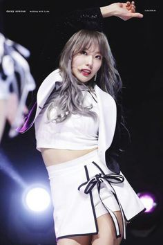 These idols turn up the heat in their sexy new stage outfits! Stage Outfits, Kpop Outfits, Cute Korean, Korean Girl, Kpop Girl Groups, Kpop Girls, Wjsn Luda, Air Force Blue, Cosmic Girls