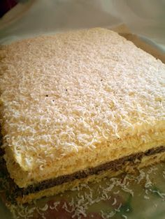 Torte Cake, Sweets Recipes, Vanilla Cake, Caramel, Sandwiches, Cheesecake, Deserts, Good Food, Food And Drink