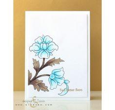Tampons transparents 'Altenew' Floral Motifs