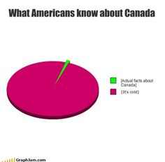 Chart: What Americans know about Canada. Canadian Memes, Canadian Things, I Am Canadian, Canadian Humour, Canada Funny, Canada Eh, Canada Jokes, Facts About Canada, Just For Laughs