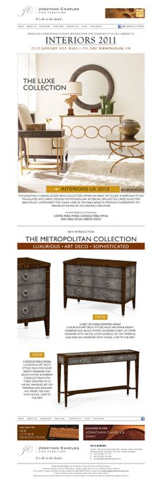 Jonathan Charles Furniture Interiors 2011