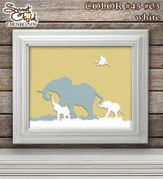 African Animals Art Baby Nursery Zoo Safari by SweetChildDesignsFL
