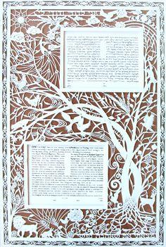 Trees Papercut Ketubah