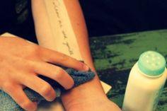 Homemade Temporary Tattoos