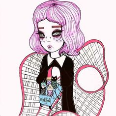 art, valfre, and girl Bild