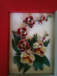 Fb Arte Quilling, Paper Quilling Patterns, Quilled Paper Art, Quilling Flowers, Quilling Designs, Origami Paper, Quilling Ideas, Big Paper Flowers, Fabric Flowers