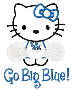 Hello Kitty University of Kentucky Wildcats by StitchMeUp1 on Etsy, $4.99