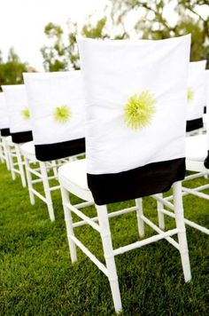 Cute chair covers from a wedding at the Four Seasons Santa Barbara...see more here http://www.californiaweddingday.com/real-weddings/item/115-real-wedding-santa-barbara-desintation-wedding-meets-miami-lounge-theme